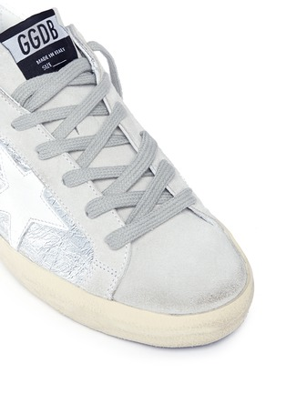Detail View - Click To Enlarge - Golden Goose - 'Superstar' wrinkle effect laminated smudged sneakers