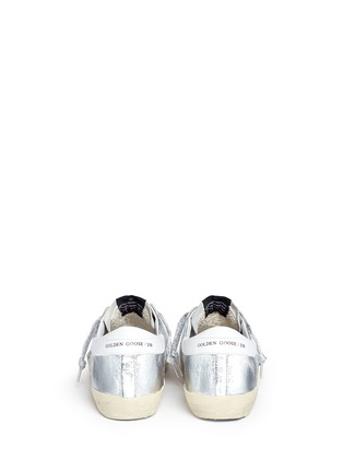 Back View - Click To Enlarge - Golden Goose - 'Superstar' wrinkle effect laminated smudged sneakers