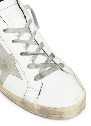 Detail View - Click To Enlarge - Golden Goose - 'Superstar' smudged leather sneakers