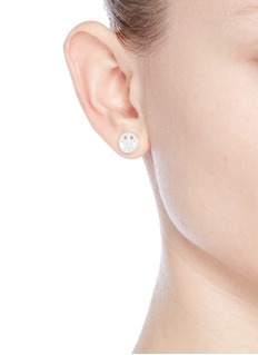 Ruifier 'Happy' sterling silver chain stud earrings
