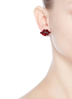 Anton Heunis Heart and lips asymmetric stud earrings