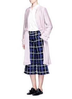 Xu ZhiFrayed tassel trim braided coat