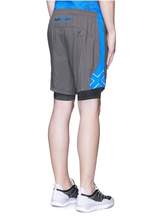 Back View - Click To Enlarge - 2Xu - 'Momentum 2 in 1 Ice X' shorts