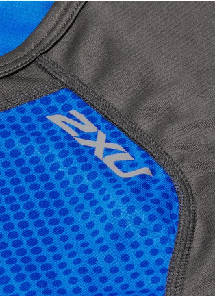 Detail View - Click To Enlarge - 2Xu - 'Ice X' colourblock performance short sleeve top