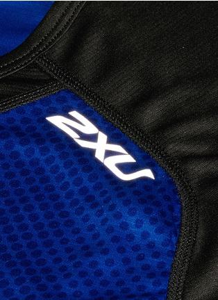 - 2Xu - 'Ice X' colourblock performance short sleeve top