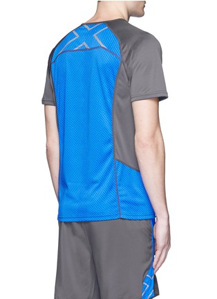 Back View - Click To Enlarge - 2Xu - 'Ice X' colourblock performance short sleeve top