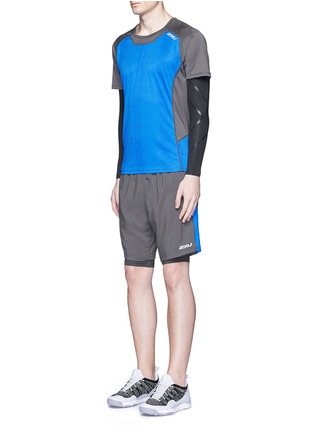 Figure View - Click To Enlarge - 2Xu - 'Ice X' colourblock performance short sleeve top