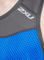 'Ice X Singlet' colourblock performance tank top