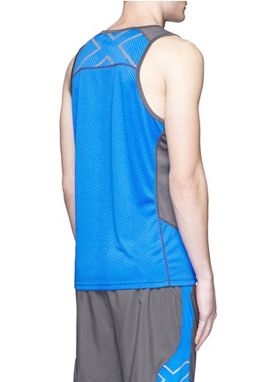 Back View - Click To Enlarge - 2Xu - 'Ice X Singlet' colourblock performance tank top