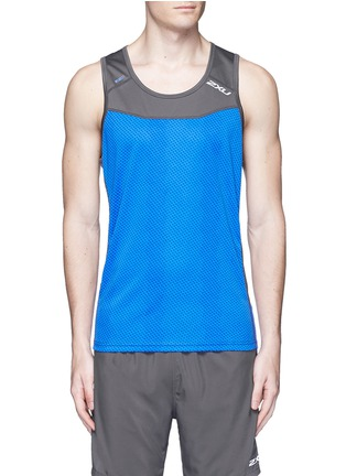 Main View - Click To Enlarge - 2Xu - 'Ice X Singlet' colourblock performance tank top
