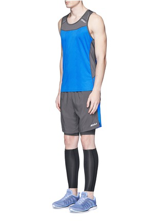 Figure View - Click To Enlarge - 2Xu - 'Ice X Singlet' colourblock performance tank top