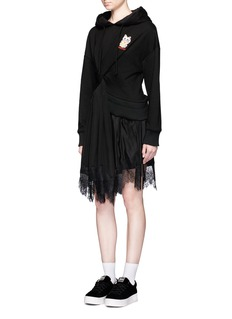 Ground-Zero Knotted front hoodie dress