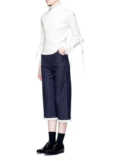Shushu/TongRuffle collar split sleeve turtleneck sweater