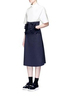 Shushu/TongRuffle stand collar top