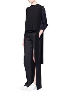Ports 1961Split leg wool-silk pants