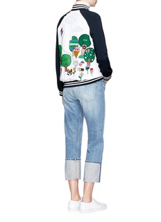 Mira Mikati 'Happy Forest' patch and embroidered bomber jacket