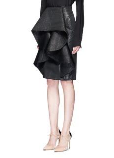 Johanna Ortiz'Queen Victoria' high waist metallic ruffle skirt