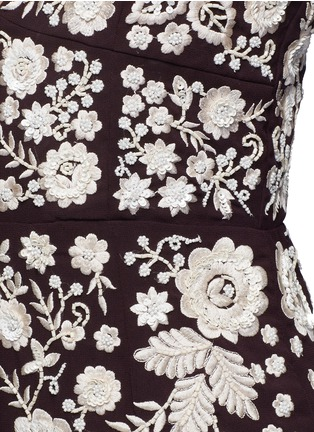 Detail View - Click To Enlarge - Needle & Thread - Embroidery motif sequin floral playsuit