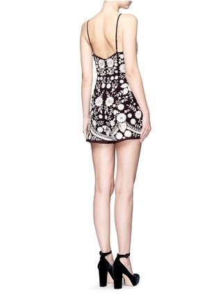 Back View - Click To Enlarge - Needle & Thread - Embroidery motif sequin floral playsuit