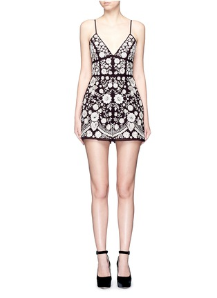 Main View - Click To Enlarge - Needle & Thread - Embroidery motif sequin floral playsuit