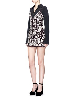 Needle & Thread 'Embroidery Motif' sequin floral playsuit
