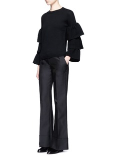 Co Folded cuff wool-silk-cashmere pants