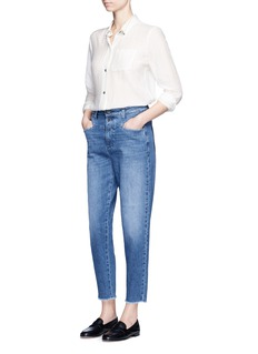 Closed 'Pedal Icon '85' frayed cuff cropped denim pants