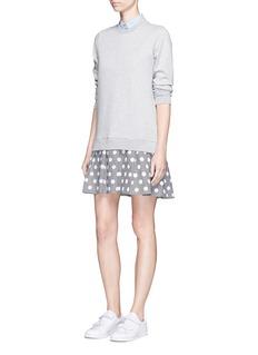 Clu TooFlocked polka dot skirt and sweatshirt dress