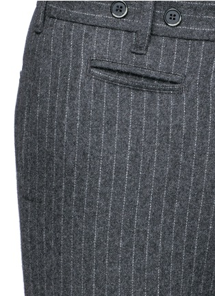 Detail View - Click To Enlarge - Barena - 'Rampin' pinstripe cropped wool pants