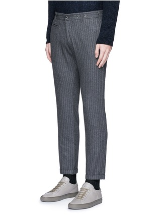 Front View - Click To Enlarge - Barena - 'Rampin' pinstripe cropped wool pants
