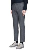 'Rampin' pinstripe cropped wool pants