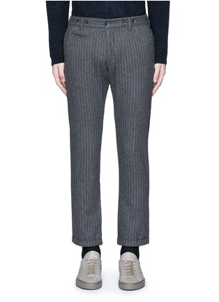 Main View - Click To Enlarge - Barena - 'Rampin' pinstripe cropped wool pants