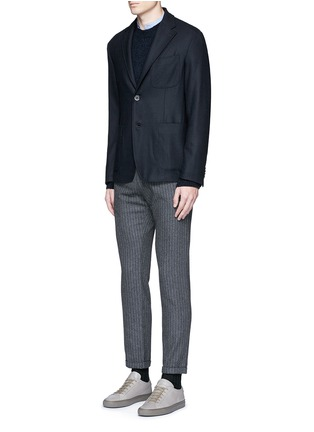 Figure View - Click To Enlarge - Barena - 'Rampin' pinstripe cropped wool pants
