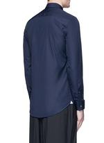 Contrast placket trim cotton shirt