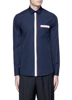 KENZOContrast placket trim cotton shirt