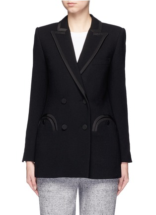Main View - Click To Enlarge - Blazé Milano - 'Everyday Resolute' wool crepe blazer