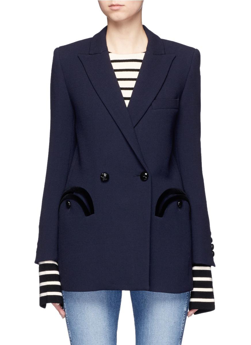 Everyday Resolute velvet trim wool blazer by Blazé Milano