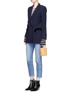 Blazé Milano'Everyday Resolute' velvet trim wool blazer
