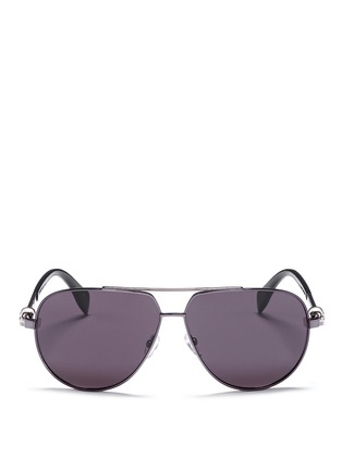 Main View - Click To Enlarge - Alexander McQueen - Skull wire rim aviator sunglasses