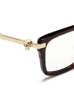 Detail View - Click To Enlarge - Alexander McQueen - Skull stud tortoiseshell acetate optical glasses