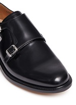 'Lora' bookbinder leather double monk strap shoes