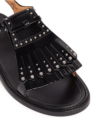 Detail View - Click To Enlarge - Church ' S - Stud kiltie fringe calfskin leather sandals