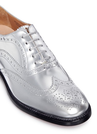 Detail View - Click To Enlarge - Church ' S - 'Burwood W 6' mirror leather brogue oxfords