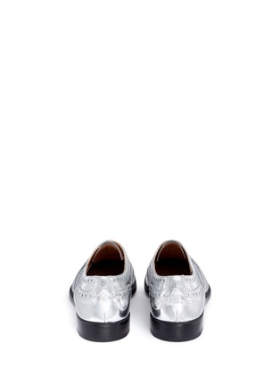 Back View - Click To Enlarge - Church ' S - 'Burwood W 6' mirror leather brogue oxfords