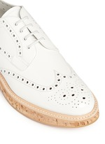 'Keely' cork sole patent leather brogue derbies