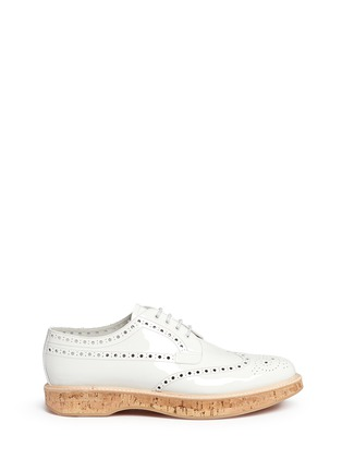 Church ' S - 'Keely' cork sole patent leather brogue derbies