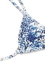 'Anatolia' geometric scale print triangle bikini top