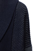 Wool-cashmere circle cardigan
