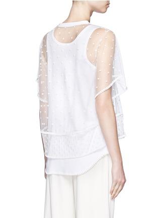 背面 - 点击放大 - CHLOÉ - 刺绣装饰薄纱T恤