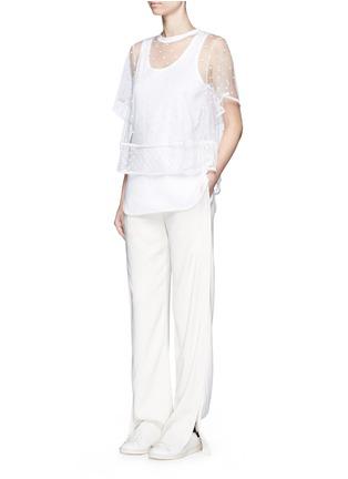 模特儿示范图 - 点击放大 - CHLOÉ - 刺绣装饰薄纱T恤